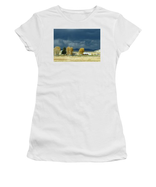 Women's T-Shirt featuring the photograph Storm Brewing by Rosanne Licciardi