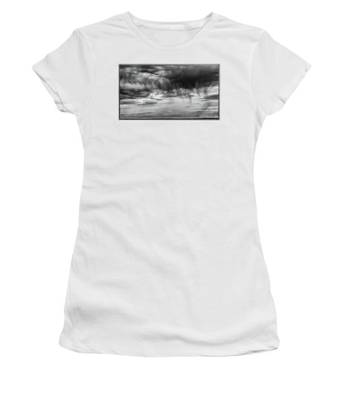 Stormy Sky In Black And White Women's T-Shirt