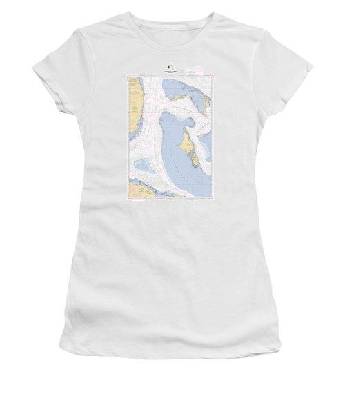 Straits Of Florids, Eastern Part Noaa Chart 4149 Edited. Women's T-Shirt