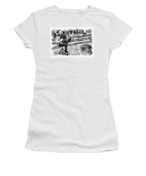 Street Musician In Florence Women's T-Shirt
