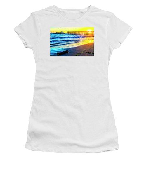Sun Setting Through Pier Women's T-Shirt