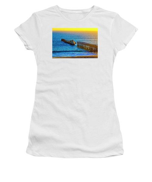 Sunken Ship Pacific Ocean Women's T-Shirt