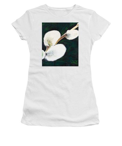 Sunlit Pussy Willow Women's T-Shirt