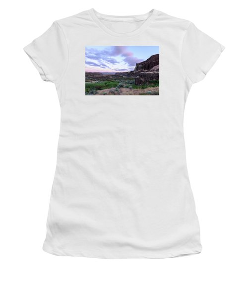 Sunrise In The Ancient Lakes Women's T-Shirt