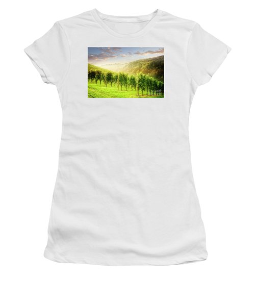 Women's T-Shirt featuring the photograph Sunrise Over Styria by Scott Kemper