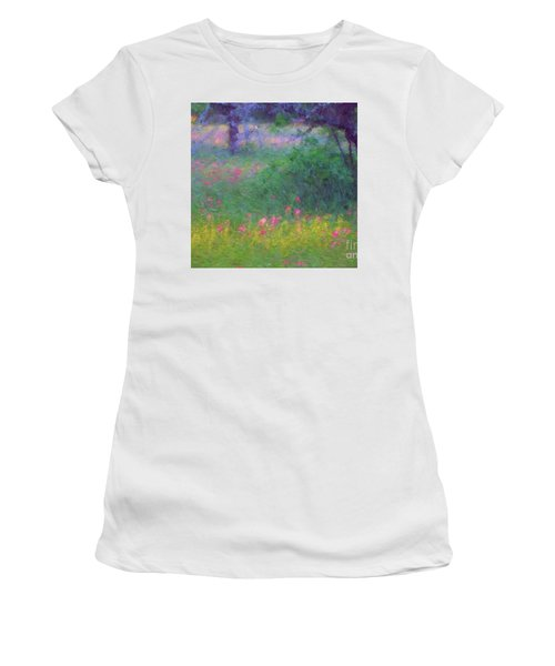 Sunset In Flower Meadow Women's T-Shirt