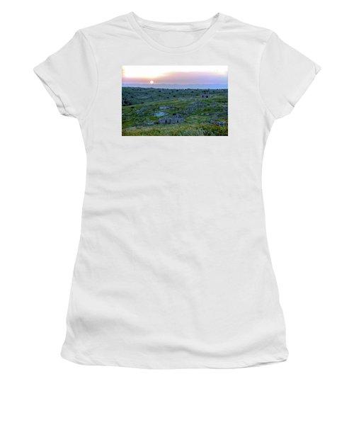 Sunset Over Um A-shekef, Israel Women's T-Shirt