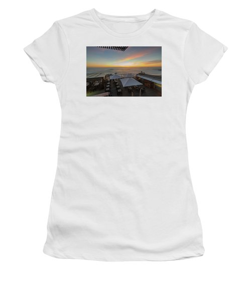 Women's T-Shirt featuring the photograph Sunset Vibes by Bruno Rosa