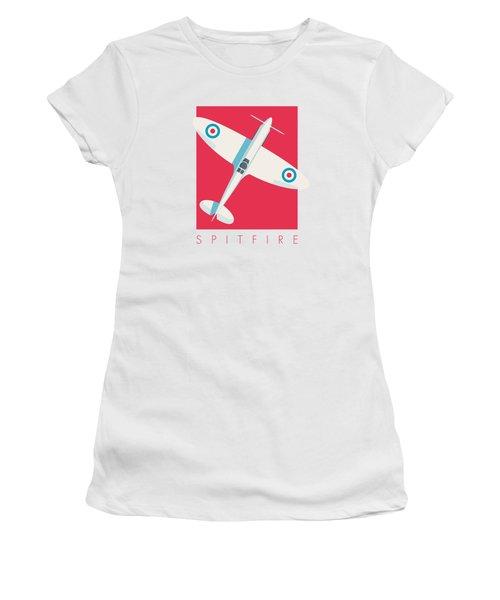 Supermarine Spitfire Fighter Plane - Crimson Women's T-Shirt