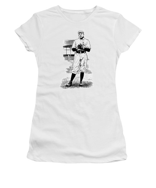 Women's T-Shirt featuring the drawing Take Me Out To The Ballgame by Clint Hansen