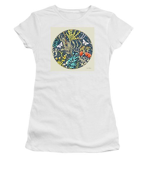 Tapestry Design Button Women's T-Shirt