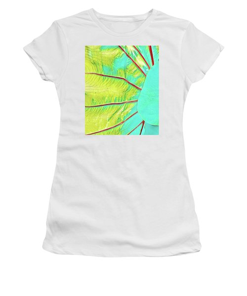 Taro Leaf In Turquoise  Women's T-Shirt