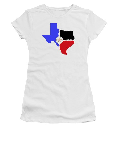 Texas Tri-color Map With Barbed Wire Lone Star - T-shirt Women's T-Shirt