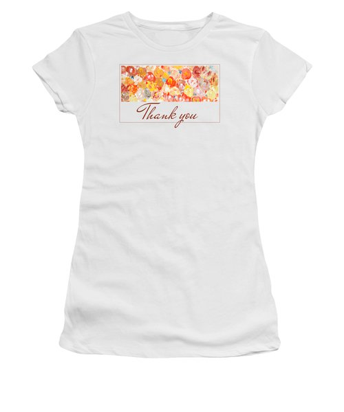 Women's T-Shirt featuring the painting Thank You #3 by Maria Langgle