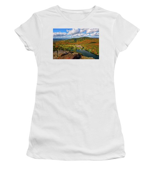 Women's T-Shirt featuring the photograph The Balsams Resort Autumn. by Jeff Sinon