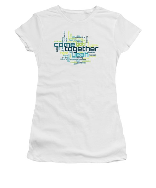 The Beatles - Come Together Lyrical Cloud Women's T-Shirt