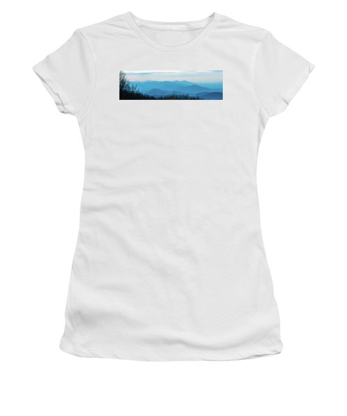 Women's T-Shirt (Athletic Fit) featuring the photograph The Blue Ridge Mountains by Mark Duehmig