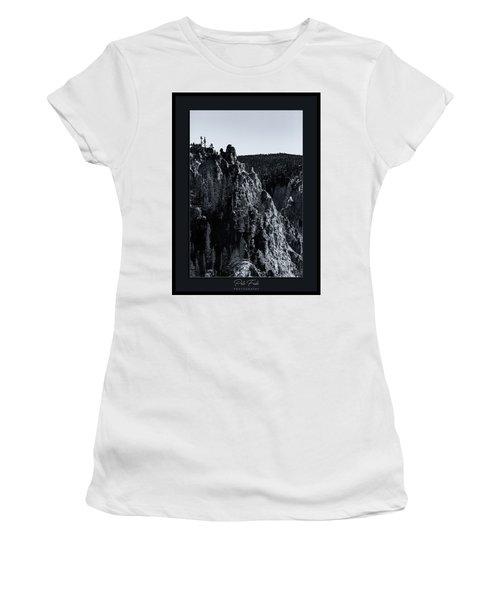 Women's T-Shirt (Athletic Fit) featuring the photograph The Grand Canyon Of The Yellowstone by Pete Federico