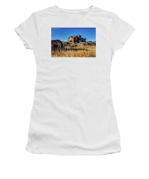 Women's T-Shirt (Athletic Fit) featuring the photograph The House by Pete Federico