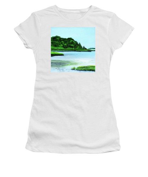 The Little River Gloucester, Ma Women's T-Shirt
