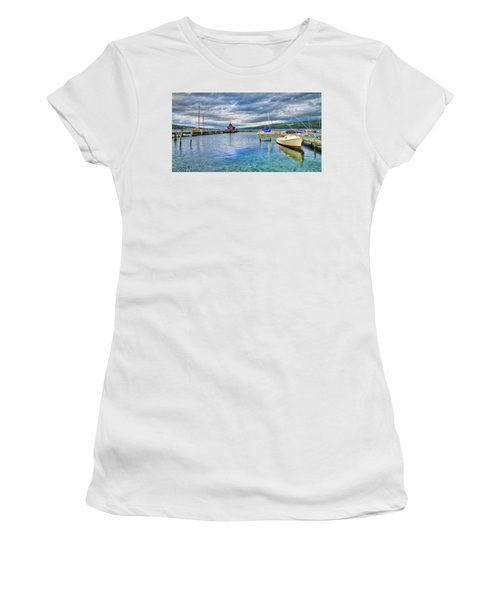 Women's T-Shirt (Athletic Fit) featuring the photograph The Marina At Seneca Lake - Finger Lakes, New York by Lynn Bauer