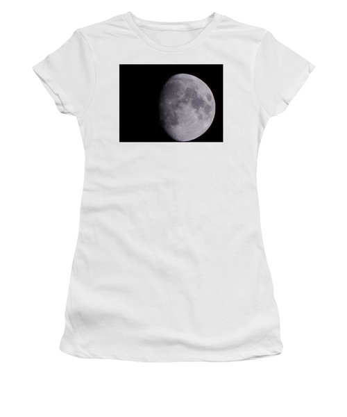 Women's T-Shirt featuring the photograph The Moon by Lukas Miller