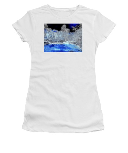 The  Pond In  Winter  -  Edit20-contest Women's T-Shirt