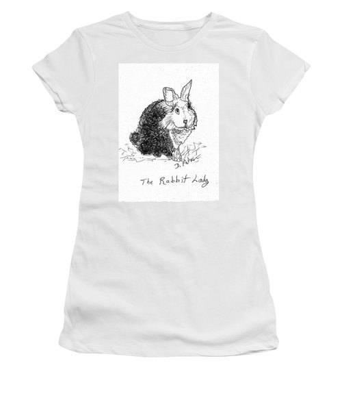 The Rabbit Lady Drawing Women's T-Shirt