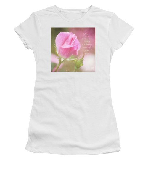 The Rose Speaks Of Love Photograph Women's T-Shirt