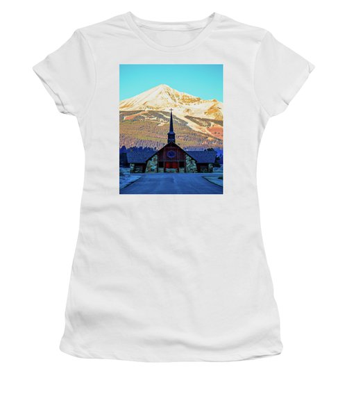 Women's T-Shirt (Athletic Fit) featuring the photograph The Soldiers Chapel by Pete Federico