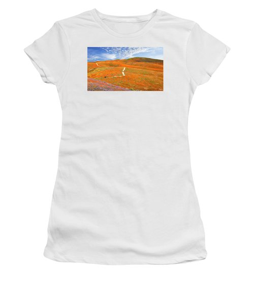 The Trail Through The Poppies Women's T-Shirt