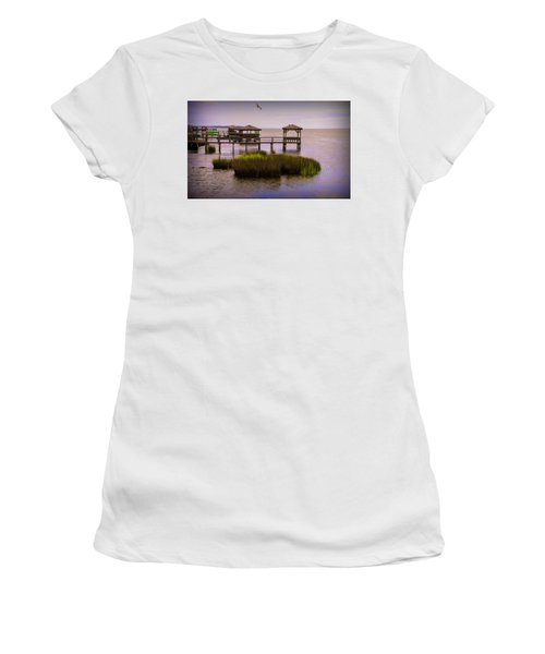 The Waterfront At Duck  Women's T-Shirt