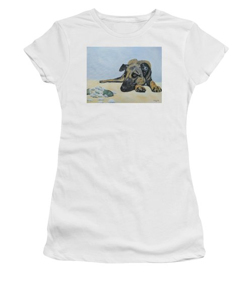 Women's T-Shirt featuring the painting This Toy Is Defective by Kevin Daly
