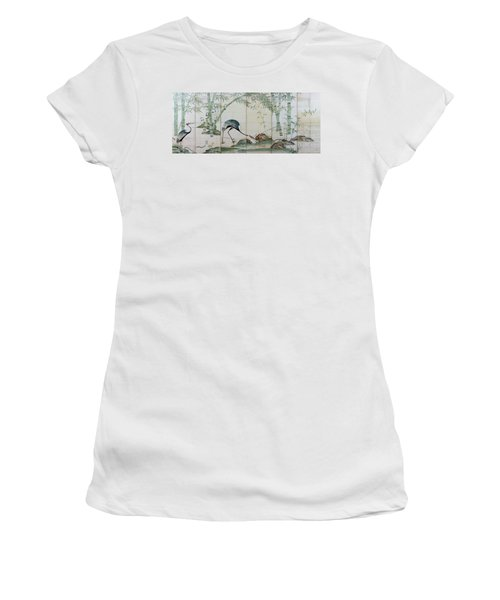 Top Quality Art - Cranes Pines And Bamboo Women's T-Shirt