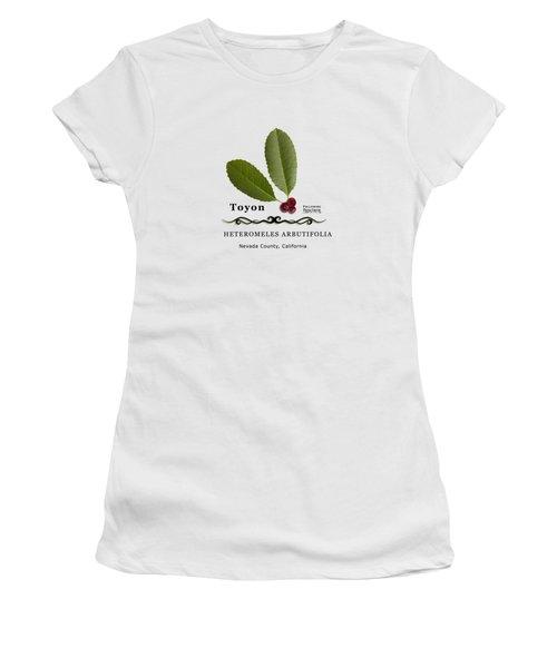 Toyon Christmas Berry Women's T-Shirt