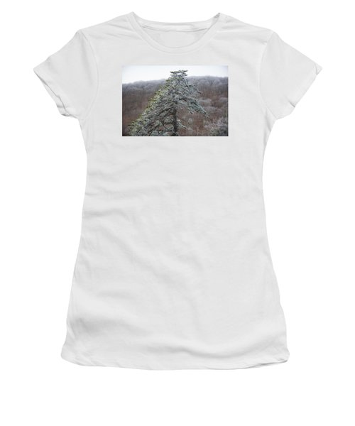 Tree With Hoarfrost Women's T-Shirt