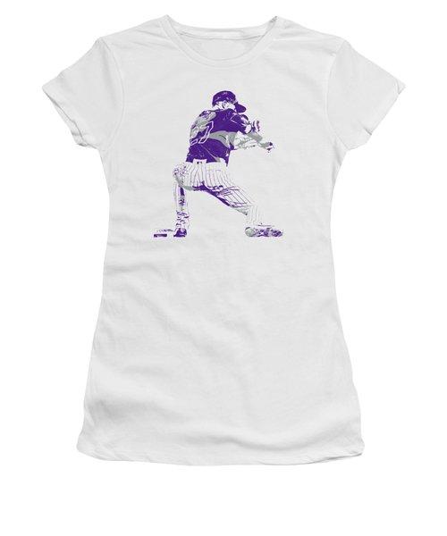 Trevor Story Colorado Rockies Pixel Art 15 Women's T-Shirt