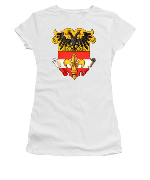 Women's T-Shirt featuring the drawing Triest Coat Of Arms 1467-1919 by Hugo Stroehl