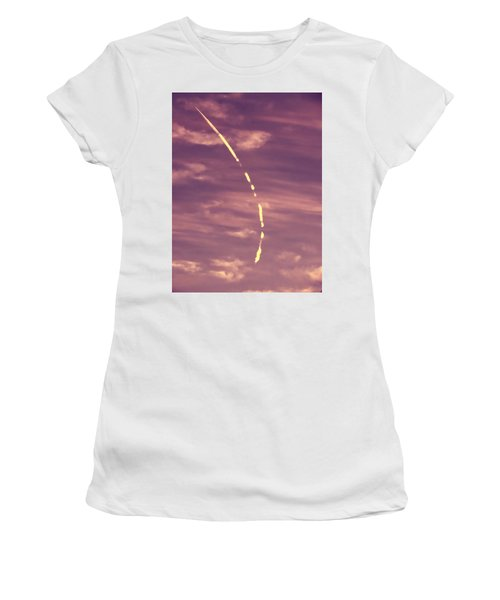 Turning Jet With Broken Contrail Women's T-Shirt