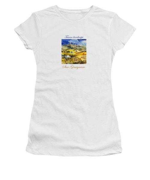 Tuscan Landscape - San Gimignano Women's T-Shirt