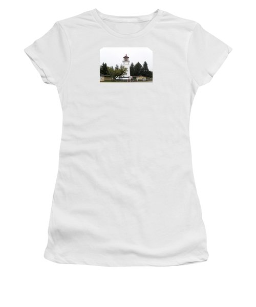 Women's T-Shirt (Athletic Fit) featuring the photograph Umpque River Lighthouse Oregon V2 101818 by Rospotte Photography