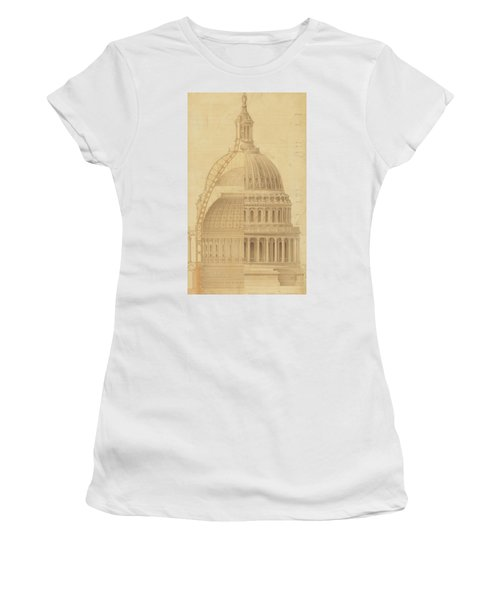 United States Capitol, Section Of Dome, 1855 Women's T-Shirt