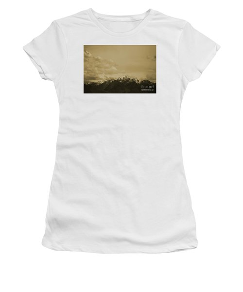 Utah Mountain In Sepia Women's T-Shirt