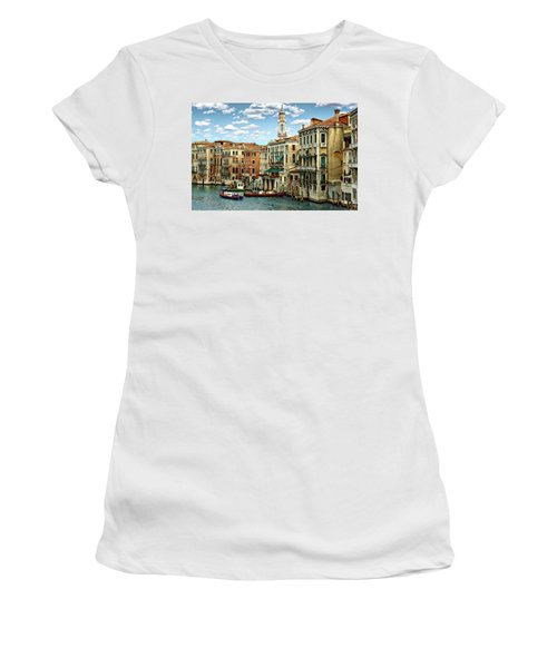 Women's T-Shirt (Athletic Fit) featuring the photograph Venice Canal by Anthony Dezenzio