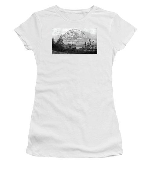 View Of Boston Harbor Women's T-Shirt