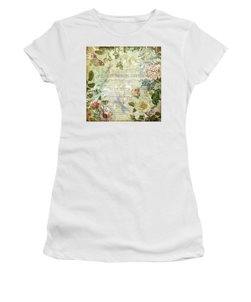 Vintage Botanical Illustration Collage Women's T-Shirt