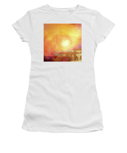 Women's T-Shirt featuring the painting Vortex Of Light by Valerie Anne Kelly