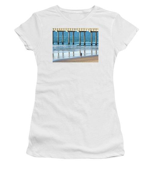 Walk To The Pier Women's T-Shirt