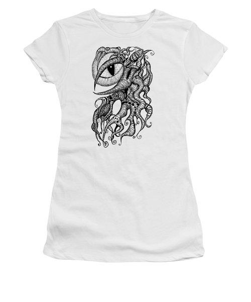 Watching Eye Creature With Tentacles Women's T-Shirt