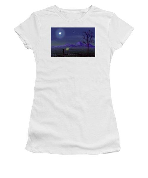 Watching Shooting Stars Women's T-Shirt